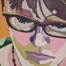 """""""Anna,"""" Oil on Canvas, 12"""" x 12"""", $450"""
