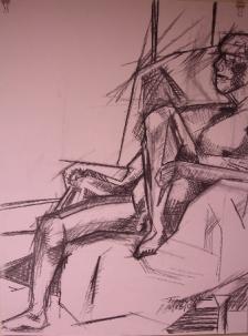Seated Nude - Geometric Planes