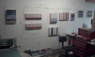 My studio wall so far.