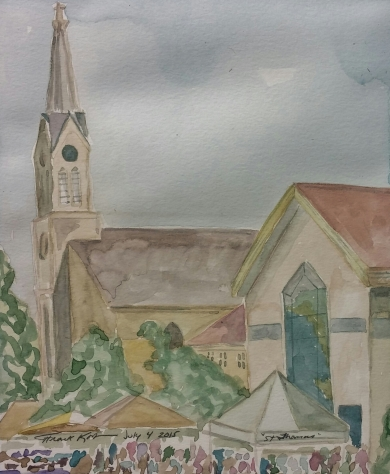 """St. Thomas,"" Watercolor on Paper, $100"