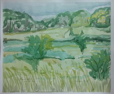 """""""Wadewitz II,"""" Watercolor on Paper, $100"""