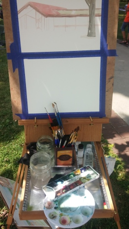 Here is my set up - thanks to my inspiration - Mary H. with the French Easel.