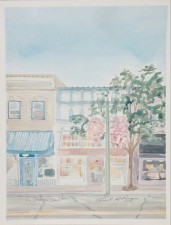"""Lake Geneva Storefront"" Watercolor on Paper."