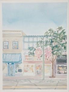 """Lake Geneva Storefront"" Watercolor on Paper."