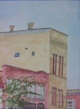 """3rd Floor View,"" 12"" x 9"", Watercolor on Paper, $100"