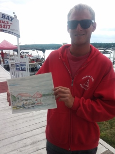 Trevor of Marina Bay - New owner of today's painting.
