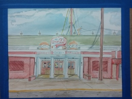 """""""Two Cream Puffs Please,"""" Watercolor on Paper, $325 at the WI State Fair Expo Building - 2015."""