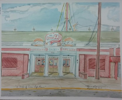 """""""A Couple Cream Puffs Please,"""" Watercolor on Paper, $325 at the WI State Fair Expo Building - 2015."""