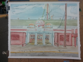 """Two Cream Puffs Please,"" Watercolor on Paper, $325 at the WI State Fair Expo Building - 2015."