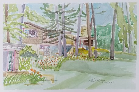 """""""Effi's Place - The Engineer's Cottage"""" Frank Korb, Watercolor on Paper, June 29, 2017, Collection of Effi Casey."""