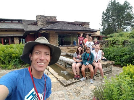 A day at Taliesin with my summer Plein Air Artists. I love the days like this.