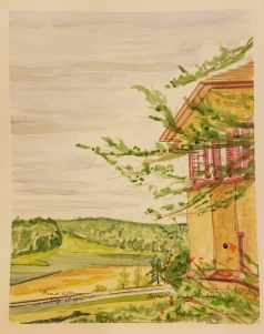 """A View from Taliesin"" Watercolor on Paper"