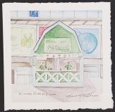 """Milwaukee Bucks Milkhouse"" Watercolor on Paper."