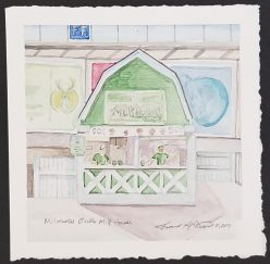 """Milwaukee Bucks Milkhouse"" Watercolor on Paper."