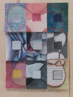 """""""Elements and Principles"""", Mixed Media on Paper on Panel"""