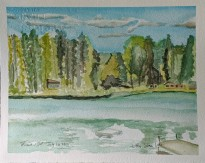Little Silver Lake, $100, Watercolor on Paper