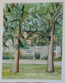 W6495 County Road H, Friday Morning, $100, Watercolor on Paper