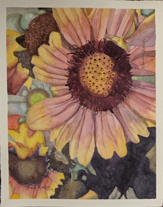 """Blanketflower,"" $200, Watercolor on Paper"