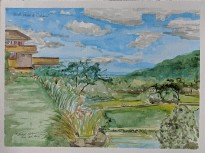 """Bird's Walk @ Taliesin,"" Watercolor on Paper, $200."