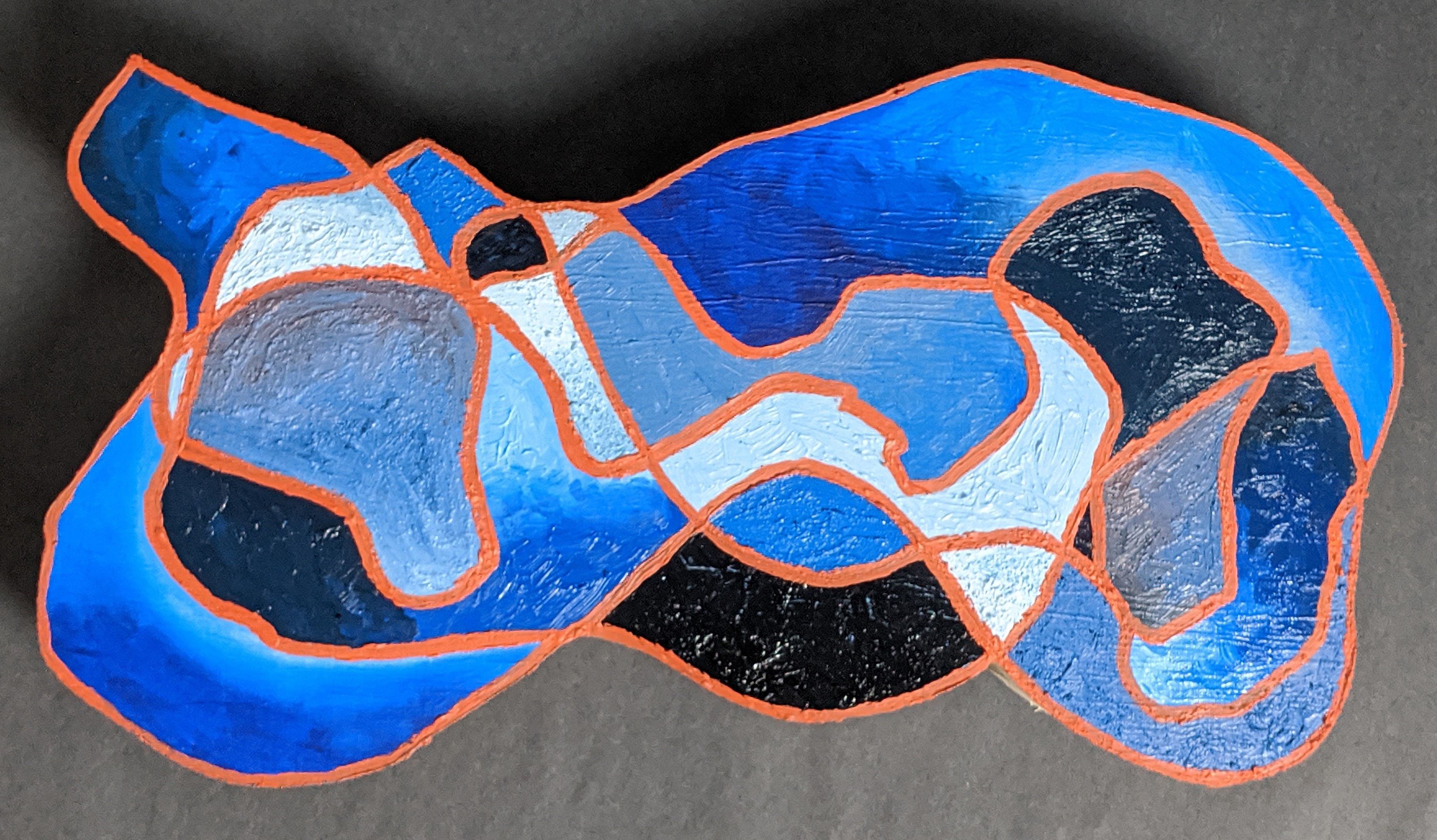 """""""Our Ordinary Thought is Abstract."""" Frank Korb, Oil, sand, Roll-a-Tex, Collage, and Canvas on Plywood, 10"""" x 18.5"""" x 2.5"""", 2020, $240""""Our Ordinary Thought is Abstract."""" Frank Korb, Oil, sand, Roll-a-Tex, Collage, and Canvas on Plywood, 2020, $240."""