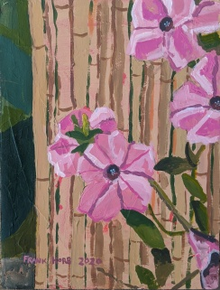 """Petunias Between 4 and 6p.m.,"" Frank Korb, Acrylic on Canvas, 12"" x 9"", 2020, $155."